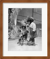 1930s Two Chimpanzees Monkeys Fine-Art Print