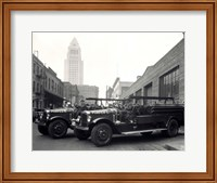 1920s 1930s Two Fire Trucks Fine-Art Print