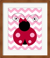 Ladybug Chevron Fine-Art Print