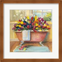 Bathtub Bouquet II Fine-Art Print