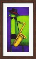 Sax Dog Fine-Art Print