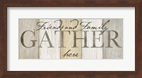 Family Gather Neutral Sign Fine-Art Print