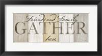 Family Gather Neutral Sign Fine-Art Print