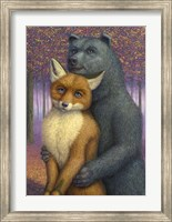 Fox and Bear Couple Fine-Art Print