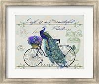 Peacock On Bicylce II Fine-Art Print