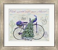 Peacock On Bicylce III Fine-Art Print