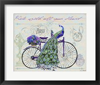 Peacock On Bicylce III Fine-Art Print