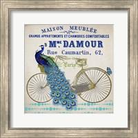 Peacock On Bicylce - D Fine-Art Print