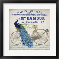 Peacock On Bicylce - D Fine-Art Print