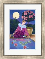 Pierrot At Water Lily Pond Fine-Art Print