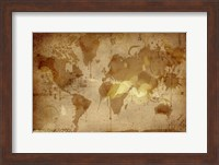 Vintage World Map Fine-Art Print