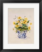 Blue and White Porcelain Daisies Fine-Art Print