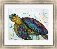 Sea Turtle w/paint splotches Fine-Art Print