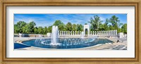 View of Fountain at National World War II Memorial, Washington DC Fine-Art Print