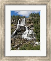 Low angle view of Tvindefossen Waterfall, Voss, Norway Fine-Art Print