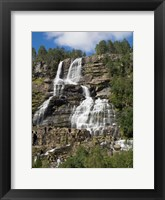 Low angle view of Tvindefossen Waterfall, Voss, Norway Fine-Art Print