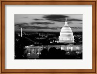 City Lit up at Dusk, Washington DC Fine-Art Print
