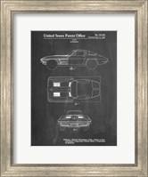 Chalkboard 1962 Corvette Stingray Patent Fine-Art Print