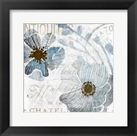 Soft Floral Blue 1 Fine-Art Print