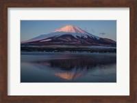 Mt Fuji and Lake at sunrise, Honshu Island, Japan Fine-Art Print