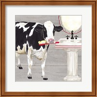 Bath time for Cows Sink Fine-Art Print