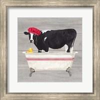 Bath time for Cows Tub Fine-Art Print