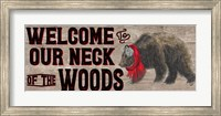 Warm in the Wilderness Welcome Sign Fine-Art Print