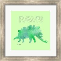 Green Stegosaurus - Green Background Fine-Art Print