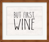 But First Wine Fine-Art Print