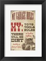 My Garage Rules Fine-Art Print