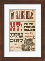 My Garage Rules Fine-Art Print