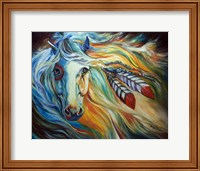 Breaking Dawn Indian War Horse Fine-Art Print