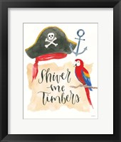 Pirates III on White Fine-Art Print