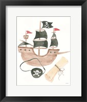 Pirates IV on White Fine-Art Print