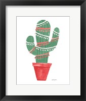 A Very Cactus Christmas II Dark Green Fine-Art Print