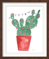 A Very Cactus Christmas III Dark Green Fine-Art Print
