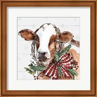 Holiday on the Farm VIII on Gray Fine-Art Print