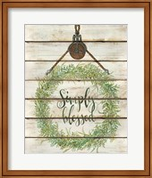 Simply Blessed Wreath Fine-Art Print