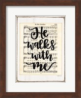 He Walks with Me Fine-Art Print