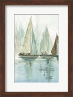Blue Sailboats II Fine-Art Print