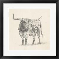 Longhorn Steer Sketch II Fine-Art Print