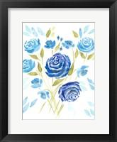 Cerulean Blooms II Fine-Art Print