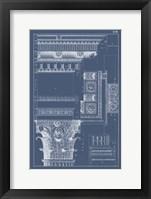 Column & Cornice Blueprint III Fine-Art Print