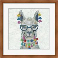 Llama Love with Glasses II Fine-Art Print