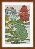 Pagoda Landscape II Fine-Art Print