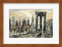 Brooklyn Bridge Gray and Gold Fine-Art Print