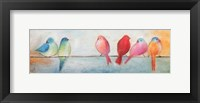 Colorful Birds On A Wire Fine-Art Print
