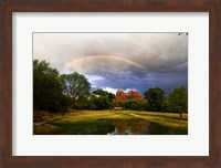 Catherdral Rock Rainbow Sedona Arizona Fine-Art Print