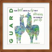 Guard Your Heart Llamas Fine-Art Print