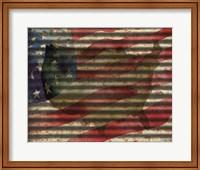 American Flag on Metal Fine-Art Print
